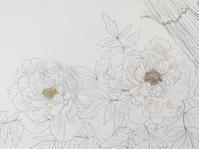 牡丹。 - 『一日一畫』 日本画家池上紘子