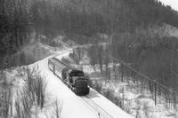 雪晴れの峠道を登る短い列車- 1986年・石北本線 - - ねこの撮った汽車