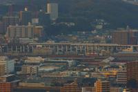 黄金山から見る新幹線 - まずは広島空港より宜しくです。