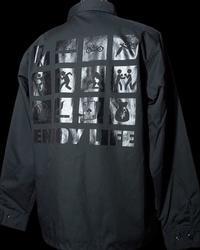 2月17日入荷予定! RealMinority リアルマイノリティー コーチジャケット (ENJOY LIFE) カラー:ブラック×ブラック 12,980円(内税) - ZAP[ストリートファッションのセレクトショップ]のBlog