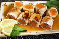 ■和のおかず【豚生姜焼き用で根菜の八幡巻き餡かけ】 - 「料理と趣味の部屋」