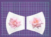 白のマスクに資生堂の薔薇を張付け。 - 写真で楽しんでます!