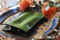 イタリアンレザー・エルバマット・2本差しペンケース・時を刻む革小物 - 時を刻む革小物 Many CHOICE~ 使い手と共に生きるタンニン鞣しの革