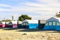 もとは小学校の施設「ちくらつなぐホテル」②〜テントエリア〜 - 旅するツバメ                                                                   --  子連れで海外旅行を楽しむブログ--