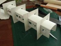 16番ペーパーキットスハ43側板貼り合わせと屋根R曲げ - 新湘南電鐵 横濱工廠3