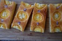 金柑と瑠璃唐草の焼き菓子 - グルグルつばめ食堂