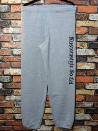 kustomstyle カスタムスタイル スウェットパンツ old english sweat pants カラー:グレー・ブラック 7,480円(内税) 入荷 - ZAP[ストリートファッションのセレクトショップ]のBlog