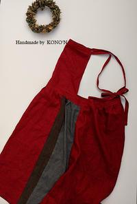 エプロンワンピ3色展開 - 子ども服と大人服 KONO'N
