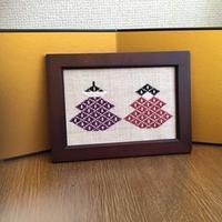 菱刺しで季節を彩る - 手編みバッグと南部菱刺し『グルグルと菱』