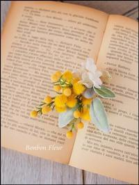 セミオーダーミモザのコサージュ~卒業式のコサージュ - Bonbon Fleur ~ Jours heureux  コサージュ&和装髪飾りボンボン・フルール