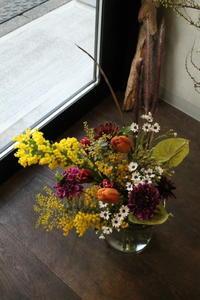 お誕生日に花束 - 北赤羽花屋ソレイユの日々の花
