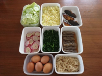 2021/2/21常備菜(ぶりの照り焼きなど) - お弁当と春の空