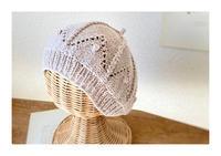 コットンのベレー帽 - 編みあみ*さんぽ道