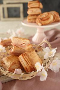 (レシピ)桜あんスコーン(イースト発酵) - おうちカフェ*hoppe