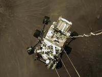 NASAの火星探査車パーサビィアランスの火星着陸の数秒前 - 秘密の世界        [The Secret World]