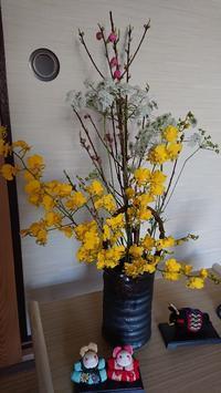 桃の花と多肉黒助 - Ree's Blog