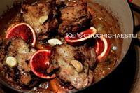 チキンのステーキとブラッドオレンジ - kei's-Chuchichaestli
