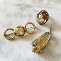 シトリン(黄水晶)のヴィンテージジュエリー - vintage & antique スワロー商會