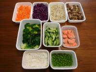 2021/2/23常備菜(牛肉と新玉ねぎの生姜煮、今年初物グリーンピースなど) - お弁当と春の空