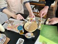 カップルでレッスン❤︎ - カフェ気分なパン教室  *・゜゚・*ローズのマリ