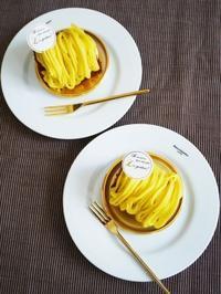 チョコシフォンでさつまいモンブラン♪ - This is delicious !!