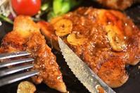 ■ガッツリ晩ご飯【塩麴味噌ガーリックトンテキ/カキフライ】 - 「料理と趣味の部屋」