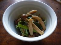 しめじと青菜(水菜と小松菜)の煮びたし - LEAFLabo