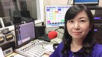 今朝も生放送でした!! 5分前のスタジオで。 - フリーアナウンサー 佐藤真生 ~ まきの巻 ~