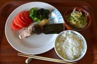 ここちき食堂休日激安価格鮭の塩焼き定食300円 - 日々のつづきごと