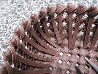 石畳編みのふた付き箱、編み代の始末を始めました - あれこれ手仕事日記 new!