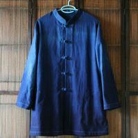本藍染のチャイナジャケット - 刺繍や縫い物 生け花と庭仕事