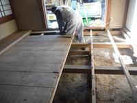 洋室と和室の床工事~荒床張り替え。 - 市原市リフォーム店の社長日記・・・日日是好日