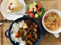 【カレー定食と苺のケーキ】 - お散歩アルバム・・初夏の賑わい