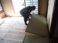 洋室と和室の床工事 ~ 新しい畳を入れて終了です。 - 市原市リフォーム店の社長日記・・・日日是好日