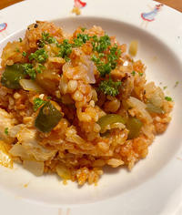 チキンライスをパナソニックのビストロで作る。ひばりヶ丘の洋食屋の想い出。 - Isao Watanabeの'Spice of Life'.