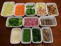 2021/2/28常備菜(ねぎ塩鶏など) * 実家から届いた野菜と、図書館から借りてきた本 - お弁当と春の空