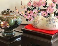 桃の花とハミングバード♪ - アンティークな小物たち ~My Precious Antiques~