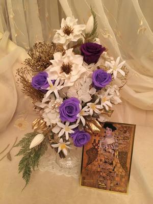 高島屋さんローサークルレッスン 「クリムト」の御礼 - 横浜 白楽のプリザーブドフラワー教室 rose blancheへようこそ