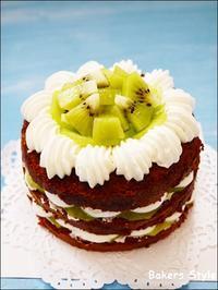 キウイのネイキッドケーキ - Bakers Style