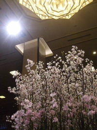 春爛漫の帝国ホテルロビーと、それを見守る渋沢栄一翁 - K's Sweet Kitchen