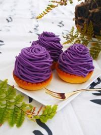 紫芋のさつまいもタルト♪ - This is delicious !!