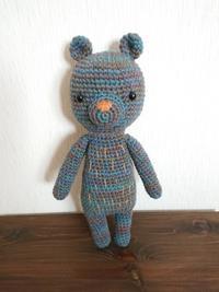 青色編みぐるみ完成 - mattarieの種。