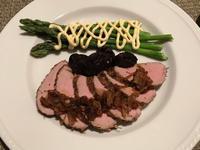 スーヴィードでローストした豚肉のフィレ&近所の花 - やせっぽちソプラノのキッチン2