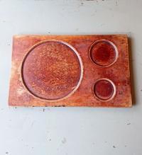 木のトレーとピアス - CELESTE アクセサリーと古道具