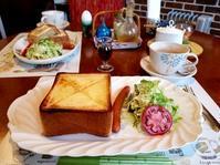 カフェ春木 * 厚切りトーストのモーニング♪ - ぴきょログ~軽井沢でぐーたら生活~