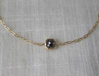 スクエアナチュラルブラックダイヤモンドK18YGブレスレット - hiroe  jewelryつくり