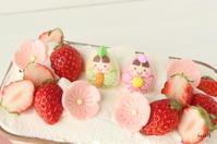 刺し子おやつマット&簡単ひな祭りケーキ - kaoの小部屋