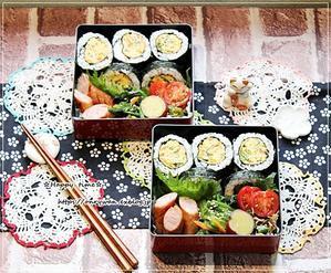 あつ玉海苔巻き弁当と今日のわんこ♪ - ☆Happy time☆