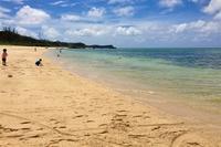 [沖縄]ウッパマビーチ:白浜のキレイな海で「大の字」で寝たくなった。 - 沖縄発-リーマン経営診断トラベラー ~俺流はこれだ~