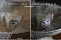 片手にProfoto C1 Plus、片手にSIGMA 28-70mm F2.8 DG DN Contemporary テーブルフォトライティング - さいとうおりのお気に入りはカメラで。